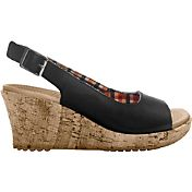 Crocs Women's A-Leigh Wedge Leather Sandals