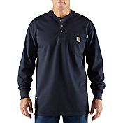 Carhartt Men's Force Flame Resistant Henley Long Sleeve Shirt