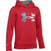 Under Armour Boys' Armour Fleece Big Flag Logo Hoodie