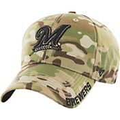 '47 Men's Milwaukee Brewers Camo MVP Adjustable Hat