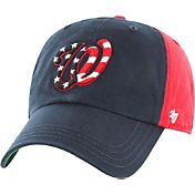 '47 Men's Washington Nationals Clean Up Flag Red Adjustable Hat