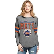 '47 Women's New York Mets Grey Courtside Long Sleeve Shirt