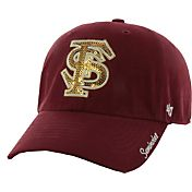 '47 Women's Florida State Seminoles Garnet Sparkle Clean-Up Adjustable Hat