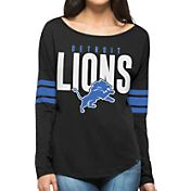 '47 Women's Detroit Lions Courtside Black Long Sleeve Shirt