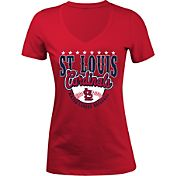5th & Ocean Women's St. Louis Cardinals Red V-Neck T-Shirt