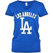 5th & Ocean Women's Los Angeles Dodgers Royal V-Neck T-Shirt