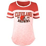 5th & Ocean Women's Cleveland Browns Space Dye Red T-Shirt