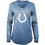 5th & Ocean Women's Indianapolis Colts Space Dye Blue Long Sleeve Shirt