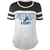 5th & Ocean Women's Detroit Lions Space Dye Grey T-Shirt