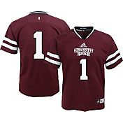 adidas Boys' Mississippi State Bulldogs Maroon #1 Replica Jersey