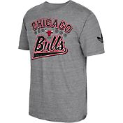 adidas Originals Men's Chicago Bulls Grey Tri-Blend T-Shirt
