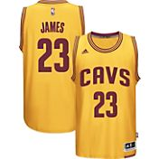 adidas Men's Cleveland Cavaliers LeBron James #23 Alternate Gold Swingman Jersey
