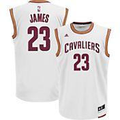adidas Men's Cleveland Cavaliers LeBron James #23 Home White Replica Jersey
