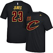 adidas Men's Cleveland Cavaliers LeBron James #23 climalite Black T-Shirt