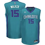 adidas Men's Charlotte Hornets Kemba Walker #15 Alternate Teal Replica Jersey