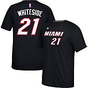 adidas Men's Miami Heat Hassan Whiteside #21 climalite Black T-Shirt