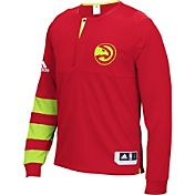 adidas Men's Atlanta Hawks On-Court Red Long Sleeve Shooting Shirt