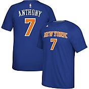 adidas Men's New York Knicks Carmelo Anthony #7 climalite Royal T-Shirt