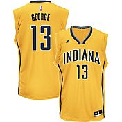 adidas Men's Indiana Pacers Paul George #13 Alternate Gold Replica Jersey