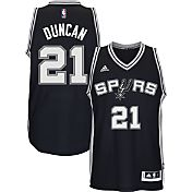 adidas Men's San Antonio Spurs Tim Duncan #21 Road Black Swingman Jersey