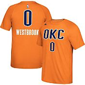 adidas Men's Oklahoma City Thunder Russell Westbrook #0 climalite Orange T-Shirt