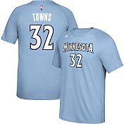 adidas Men's Minnesota Timberwolves Karl-Anthony Towns #32 climalite Light Blue T-Shirt