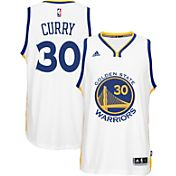 adidas Men's Golden State Warriors Steph Curry #30 Home White Swingman Jersey