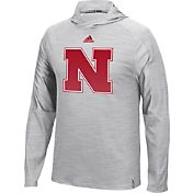 adidas Men's Nebraska Cornhuskers Grey Sideline Training Performance Hoodie