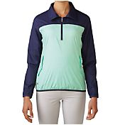 adidas Women's Packable Wind Tech Quarter-Zip Golf Pullover