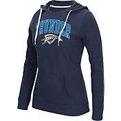adidas Women's Oklahoma City Thunder Big Arch Navy Fleece Crewdie