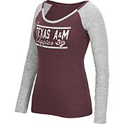 adidas Women's Texas A&M Aggies Maroon Double Bar Long Sleeve Shirt