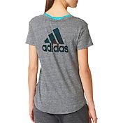 adidas Women's Logo Graphic V-Neck T-Shirt