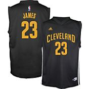 adidas Youth Cleveland Cavaliers LeBron James #23 Black Fashion Jersey
