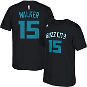 adidas Youth Charlotte Hornets Kemba Walker #15 Black T-Shirt