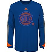 adidas Youth New York Knicks Royal Long Sleeve Shirt