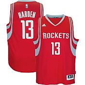 adidas Youth Houston Rockets James Harden #13 Road Red Swingman Jersey