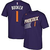 adidas Youth Phoenix Suns Devin Booker #1 Purple T-Shirt
