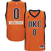 adidas Youth Oklahoma City Thunder Russell Westbrook #0 Alternate Orange Swingman Jersey