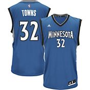 adidas Youth Minnesota Timberwolves Karl-Anthony Towns #32 Road Blue Replica Jersey