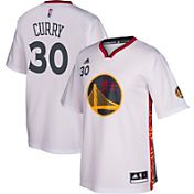 adidas Youth Golden State Warriors Steph Curry #30 Pride White Replica Jersey