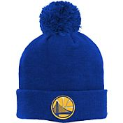 adidas Youth Golden State Warriors Cuffed Pom Royal Knit Hat