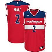 adidas Youth Washington Wizards John Wall #2 Road Red Replica Jersey