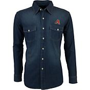 Antigua Men's Arizona Diamondbacks Chambray Button-Up Long Sleeve Shirt