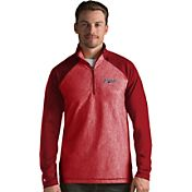 Antigua Men's Cleveland Indians Red Playmaker Quarter-Zip Pullover