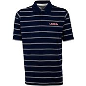 Antigua Men's UConn Huskies Blue Deluxe Performance Polo