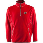 Antigua Men's Calgary Flames Red Quarter-Zip Ice Pullover