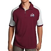 Antigua Men's Colorado Avalanche Maroon/White Century Polo