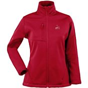 Antigua Women's St. Louis Cardinals Red Traverse Soft Shell Full-Zip Jacket