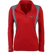 Antigua Women's St. Louis Cardinals Delta Red Quarter-Zip Pullover