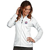 Antigua Women's Texas Rangers Full-Zip White Golf Jacket